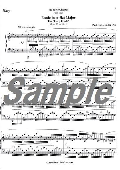 エオリアンハープ練習曲作品25-1 / F.ショパン(編Hurst)