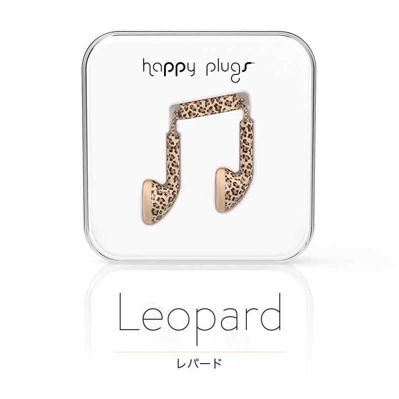 happy plugs(ハッピープラグス) インナーイヤー型有線イヤホン レオパード