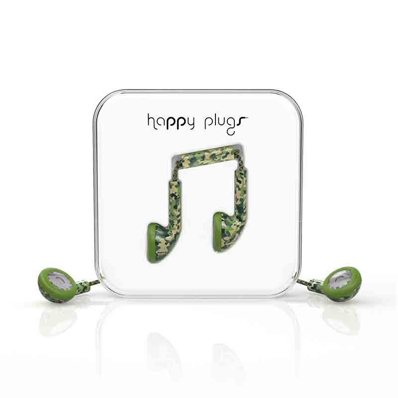 happy plugs(ハッピープラグス) インナーイヤー型有線イヤホン カモフラージュ