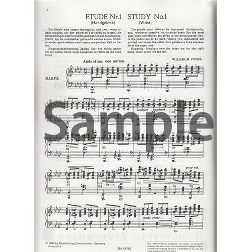 8つの演奏会用大練習曲 / W.ポッセ