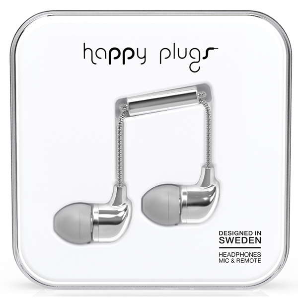 happy plugs(ハッピープラグス) カナル型有線イヤホン シルバー