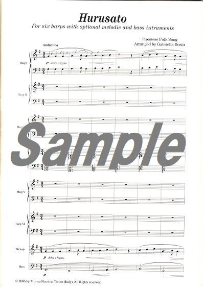 ふるさと・砂山(6台ハープ+メロディー・バス)We play the Harp/G.Bosio