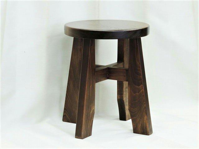 ライアー 丸椅子 木製