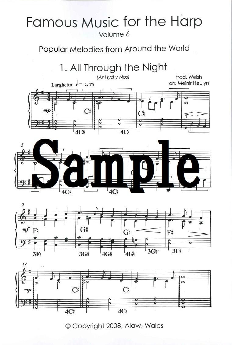 ハープのための名曲 vol.6 世界の民謡・唱歌集
