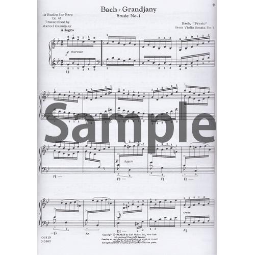 ハープのための練習曲 / バッハ(編グランジャニー)