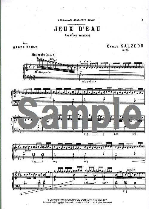 3つの小品 よりOp. 29 - 第2番  「水の戯れ」/サルツェード