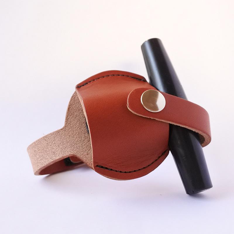 牛革チューニングキー用ホルダー Mahogany