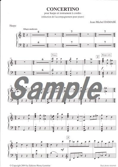 Concertino pour harpe et instruments a(アクサン付き) cordes/ J.M.ダマーズ