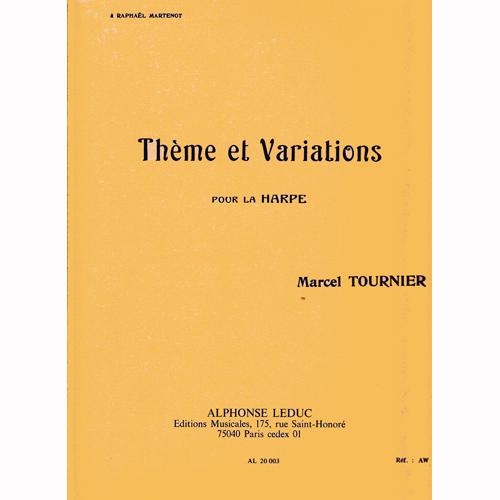 トゥルニエ ハープのための主題と変奏