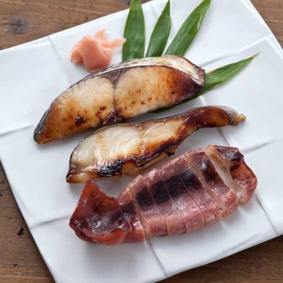 魚介味噌粕漬詰合せ F-1 (5点 木箱入)