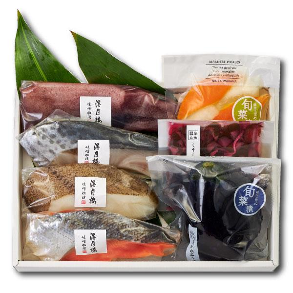 【送料込み】魚介味噌粕漬と夏のお漬物(FT-1)