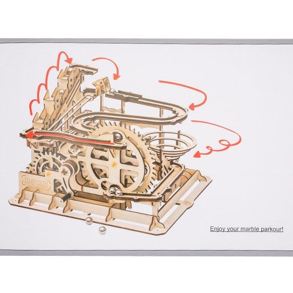 LG501 Robotime マーブルパルクール 木製パズル 立体パズル 3Dウッドパズル ロボタイム Marble Run Marble Parkour パズル 組み立てキット ★