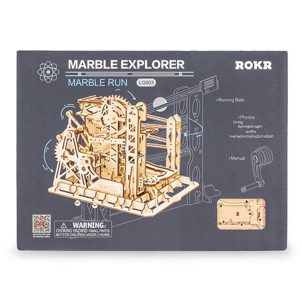 LG503 Robotime マーブルエクスプローラー 木製パズル 立体パズル 3Dウッドパズル ロボタイム Marble Run Marble Explorer 組み立てキット ★