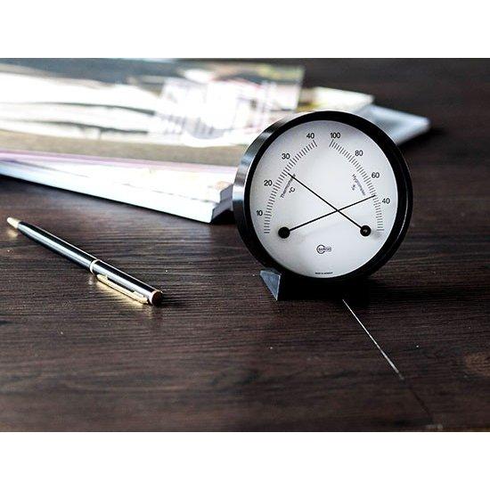 Barigo バリゴ Modern Home モダンホーム Hygro-Thermometer 小型温湿度計 BlackStainless ブラックスチンレス 915 インドア ヘルスケアインテリア ★