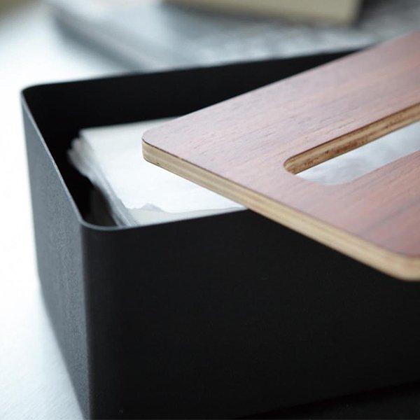 ティッシュケース 蓋付きティッシュケース L RIN リン 山崎実業 Lサイズ ティッシュカバー ティッシュ エコ ボックス シンプル おしゃれ