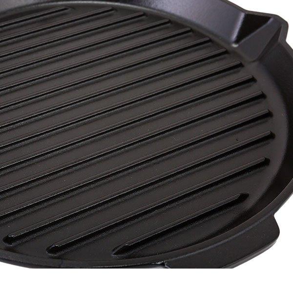 ストウブ Staub グリルパン 27cm グリルラウンド 1202023 ブラック Grill Round black ステーキ バーベキュー BBQ 焼肉 グリル 鉄板 ★
