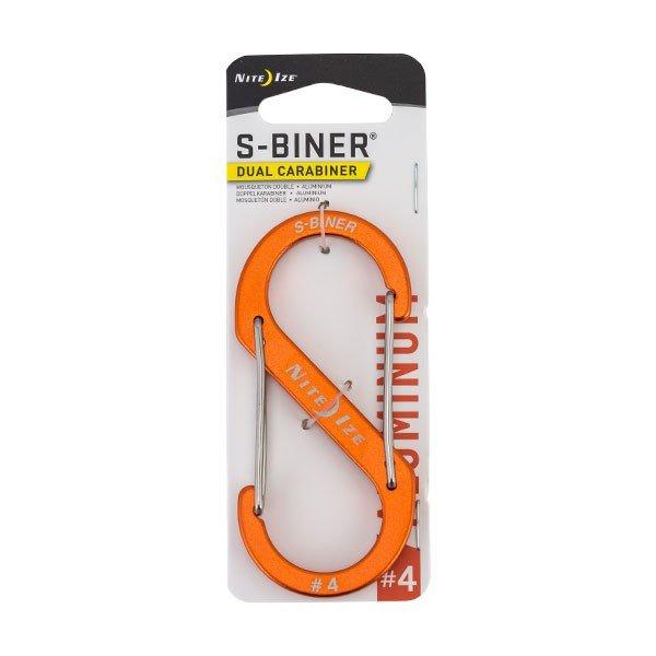 ナイトアイズ NiteIze エスビナー #4 アルミニウム SBA4 S-Biner Dual Carabiner #4 カラビナ キーホルダー S字 キーリング フック ★