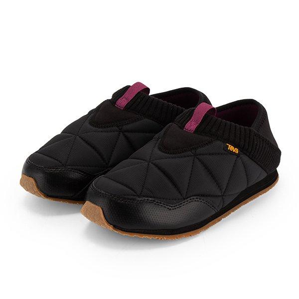 テバ TEVA スリッポン レディース エンバーモック W Ember Moc スニーカー 靴 シューズ 1018225 ブラック おしゃれ アウトドア 防寒 ★