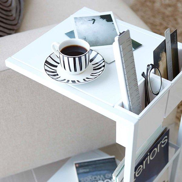 サイドテーブルワゴン tower タワー 山崎実業 サイドテーブル おしゃれ シンプル ワゴン コーヒーテーブル ナイトテーブル ベッドサイド 母の日 ★