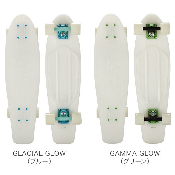 ペニー スケートボード Penny Skateboards スケボー 27インチ GLOWシリーズ ニッケル PNYCOMP2737 GLOW IN THE DARK 光る グロー ミニクルーザー コンプリート ★