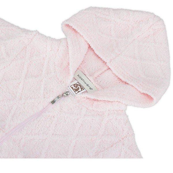 【国内検針済】カシウェア Kashwere ベビーパーカー フードジャケット ダイヤモンド 赤ちゃん 子供用 ふわふわ BH-60 Baby Hooded Jacket Diamond Texture ★