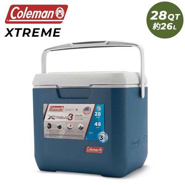 コールマン Coleman クーラーボックス 28QT XTREME 3 COOLER エクストリーム 3 クーラー 約26L ブルー / ホワイト 3000005350 ★