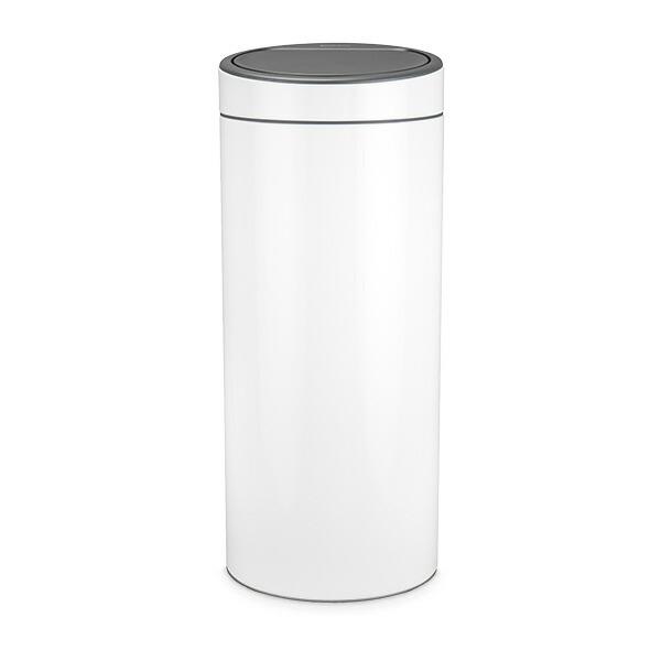ブラバンシア Brabantia ゴミ箱 30L タッチビン ソフトタッチクローズ Touch Bin New, 30 Litres ごみ箱 ふた付き ダストボックス 丸型 ★【同梱不可】