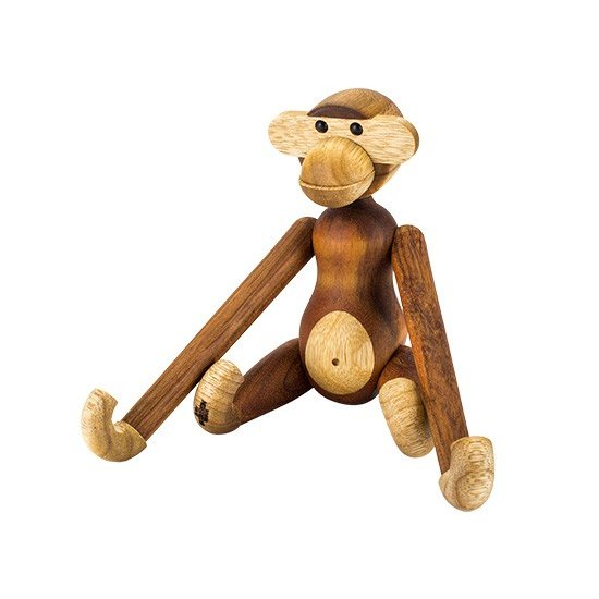 【全品5%OFFクーポン コードglv】Rosendahl ローゼンダール モンキー (猿) S 木のオブジェ 木製玩具 Kay Bojesen Monkey, small, teak/limba 39250 ★