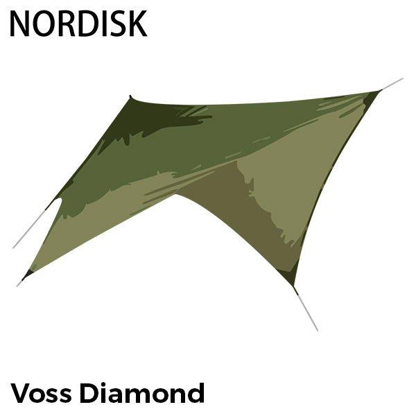 ノルディスク NORDISK タープ ヴォス ダイヤモンド PU 127009 ダスティーグリーン Voss Diamond Dusty Green incl. guy-ropes キャンプ テント 雨よけ 日よけ ★