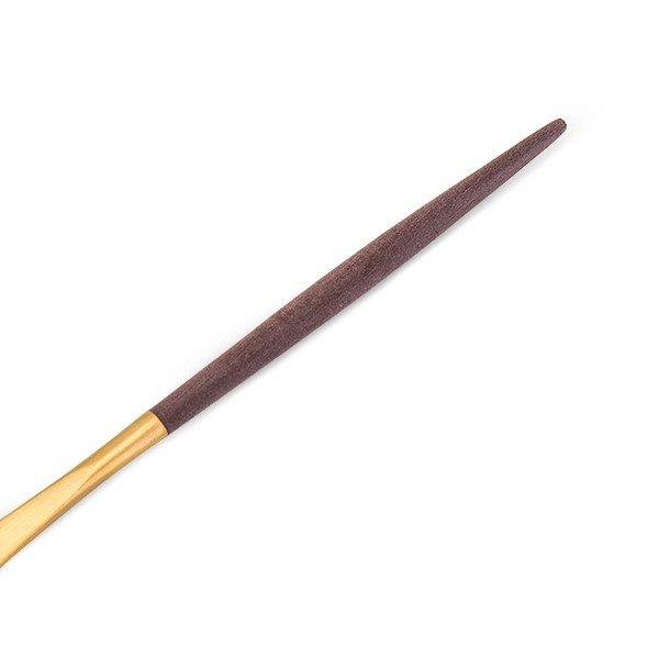 【全品5%OFFクーポン コードglv】クチポール Cutipol GOA ゴア デザートナイフ ブラウン×ゴールド Dessert knife Brown Gold ステンレス カトラリー