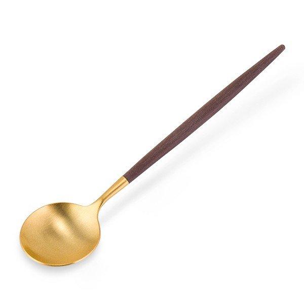 クチポール Cutipol GOA ゴア デザートスプーン ブラウン×ゴールド Dessert spoon Brown Gold ステンレス カトラリー 母の日