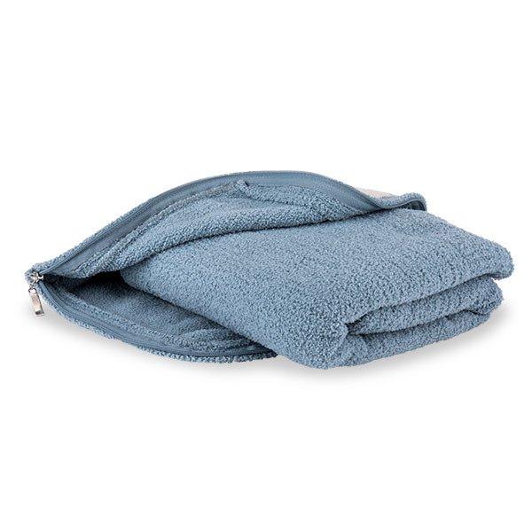 【国内検針済】カシウェア Kashwere スロー トラベルブランケット ひざ掛け 毛布 TBB-02 Throw Mini in Stripped Pouch ★