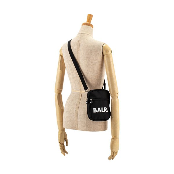 【全品5%OFFクーポン コードglv】ボーラー BALR ショルダーバッグ クロスボディ B10035 ブラック メンズ レディース ナイロン ロゴ ブランド U-Series Cross Body Bag Black ★