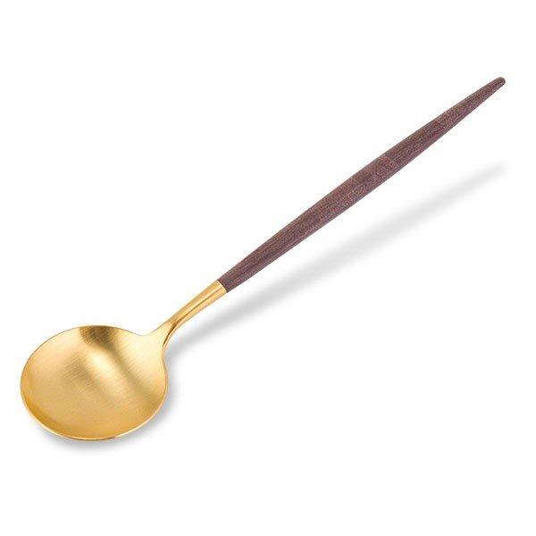 クチポール Cutipol GOA ゴア テーブルスプーン ブラウン×ゴールド Table spoon Brown Gold カトラリー ディナースプーン