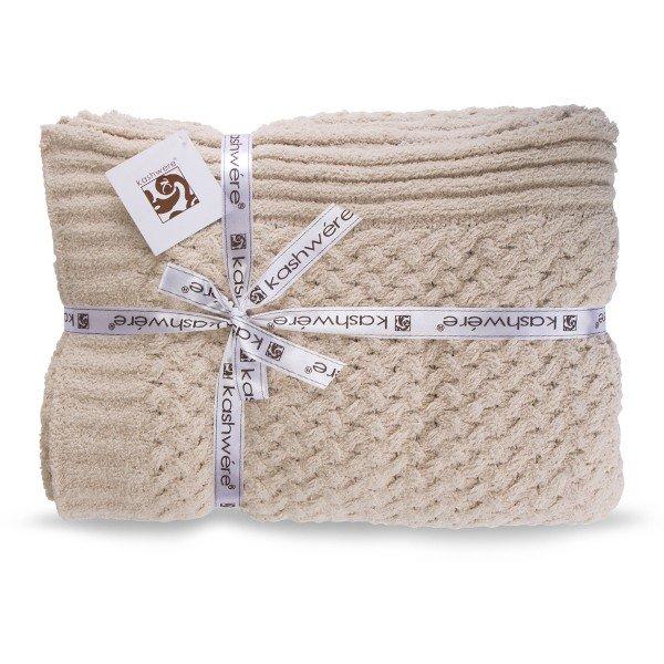 【国内検針済】カシウェア Kashwere スロー ブランケット テクスチャー バスケット T-33 Throw Textured Basket Weave Pattern ★