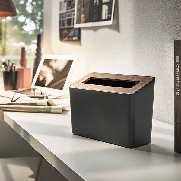 ゴミ箱 蓋付き卓上ゴミ箱 RIN リン 山崎実業 卓上ゴミ箱 ふた付き おしゃれ ごみ箱 スリム かわいい ダストボックス コンパクト 木製 北欧