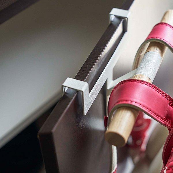 下駄箱扉ランドセル&リュックハンガー RIN リン 山崎実業 ランドセルハンガー ランドセルラック 玄関収納 ハンガーラック 傘立て 木製 北欧