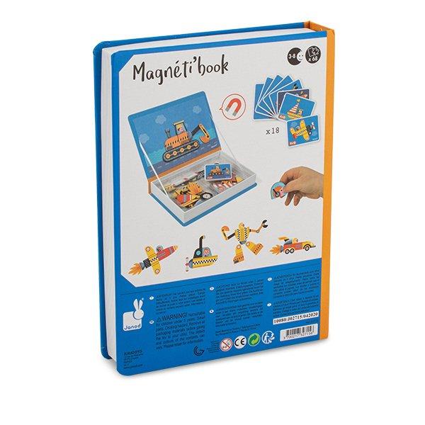 【全品5%OFFクーポン コードglv】ジャノー Janod おもちゃ マグネットブック J02715 レーサー MAGNETI'BOOK RACERS 知育玩具 マグネット パズル 子供 かわいい 玩具 ★