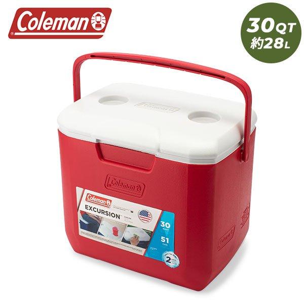 コールマン Coleman クーラーボックス 30QT エクスカーション クーラー 3000002001 レッド EXCURSION COOLER アウトドア キャンプ BBQ ★