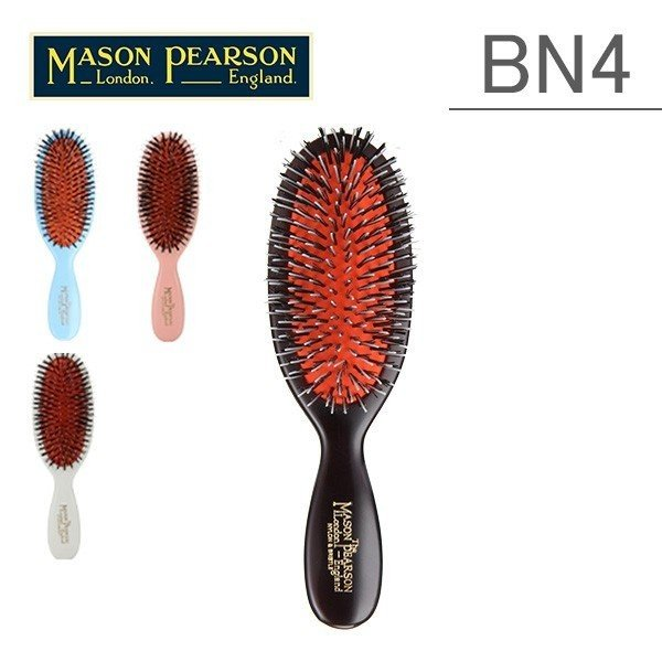 Mason Pearson メイソンピアソン ブラシ ポケットミックス BN4 猪毛 ヘアブラシ くし 高品質 ★