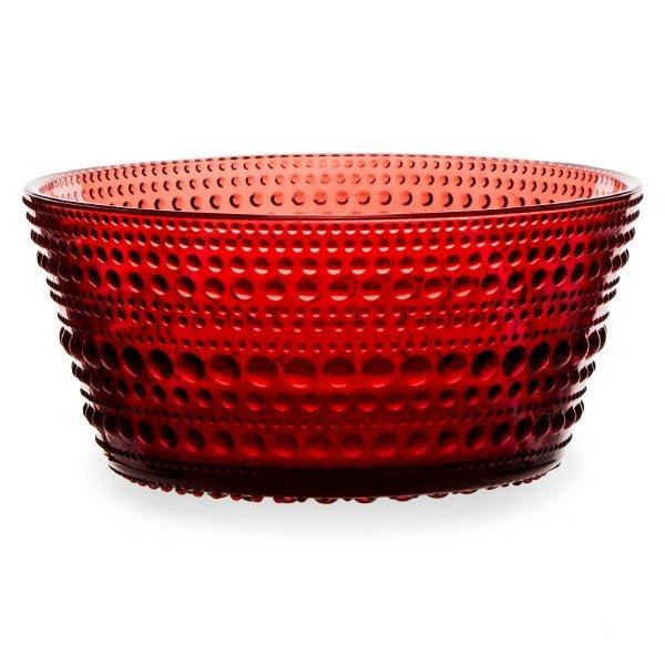 イッタラ iittala カステヘルミ ボウル 230mL 北欧 ガラス 1014460 クランベリー Kastehelmi Bowl フィンランド 食器 キッチン 食洗器対応