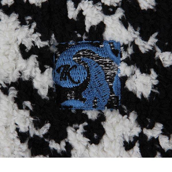 【国内検針済】カシウェア ブランケット KASHWERE 94 × 111cm 940 × 1110mm 千鳥柄 毛布 ふわふわ ひざ掛け HB-31 Baby Blanket Houndstooth おしゃれ ★