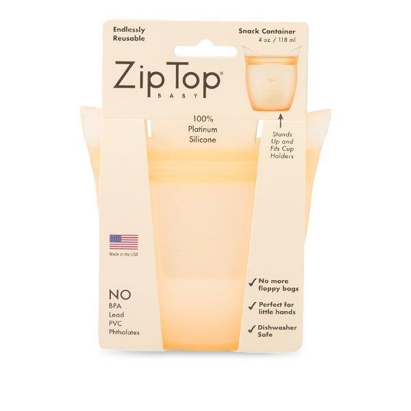 ジップトップ Zip Top ベビースナック 保存容器 118mL シリコーン 食品 保存袋 電子レンジ 食洗器 耐熱 冷凍 冷蔵 Baby Snack Containers