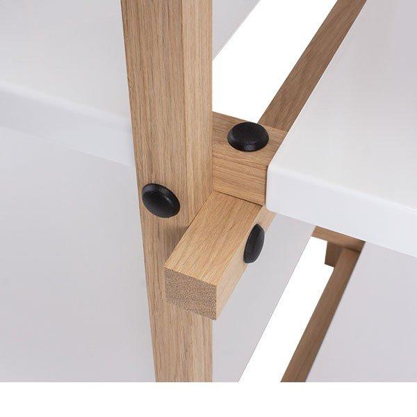 ヘイ Hay 棚 オープンラック 2段 3列 シェルフ 木製 ホワイト Woody Column Low 家具 収納 ラック ★