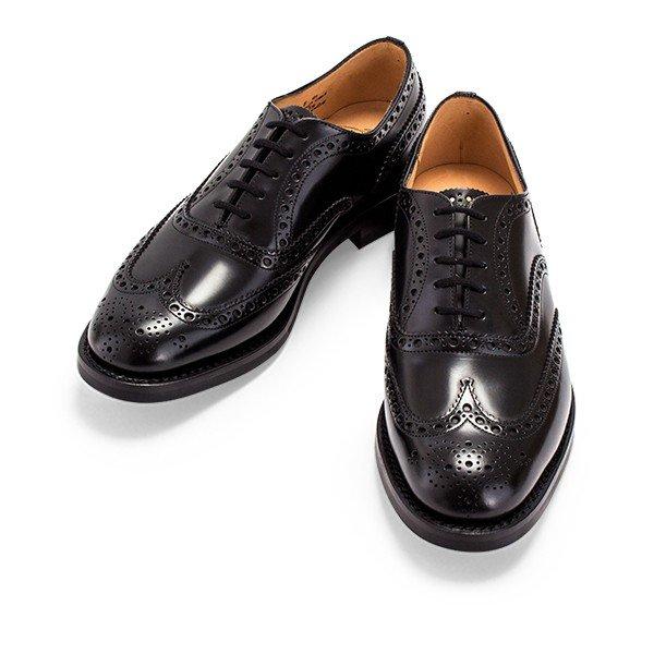 チャーチ Church's バーウッド Burwood メンズ 革靴 ポリッシュド バインダー ダイナイトソール ウイングチップ 男性用 レザーシューズ ★