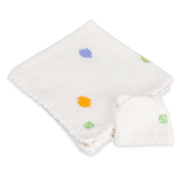 【国内検針済】カシウェア おくるみ ベビーブランケット 78 × 78cm 780 × 780mm 赤ちゃん用 肌触り 高品質 デザイン KASHWERE Baby Blanket Half Blanket ★