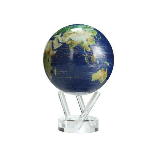 """ムーバグローブ 地球儀 4.5インチ インテリア 置物 MG-45- MOVA Globe 4.5"""" Diameter MOVA Globes Cassini Terrestrial in White ★"""