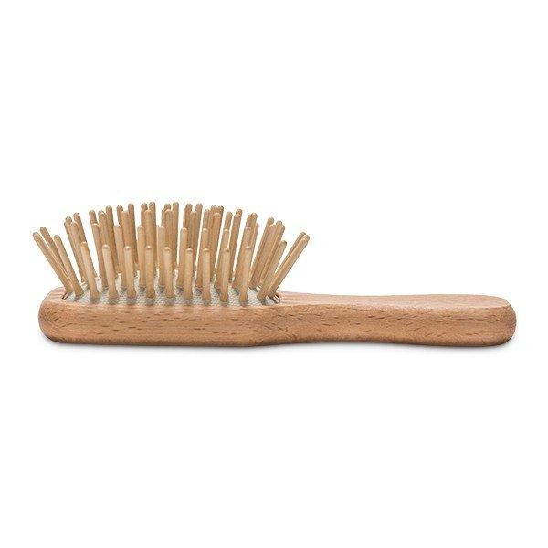 レデッカー Redecker ポケット ヘアブラシ 携帯用 ウッドピンブラシ 700003 Pocket Hairbrush Natural ヘア ブラシ ポケットサイズ 旅行用 木製 ドイツ