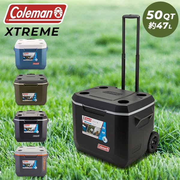 コールマン Coleman クーラーボックス エクストリーム ホイール クーラー 50QT 大容量 約47L アウトドア キャンプ キャスター付 ハードクーラー WHEELED COOLERS ★