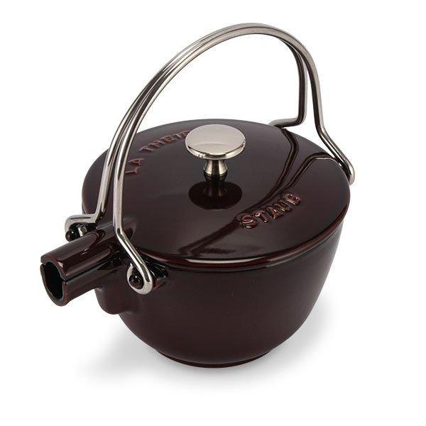 ストウブ Staub ラウンド ティーポット 16.5cm 茶こし付き ホーロー やかん IH対応 ポット ケトル 保温 おしゃれ Round Teapot ★